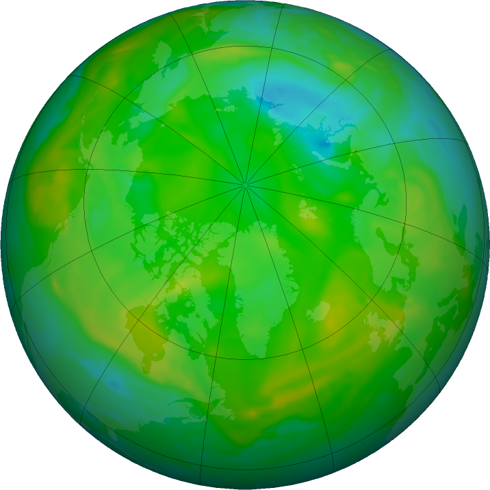 Arctic ozone map for 20 July 2019